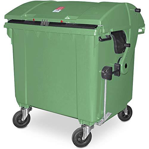 1100 Liter Großmüllbehälter/Müllcontainer nach EN 840, MGB grün