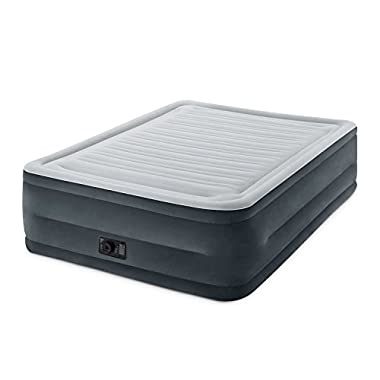 Intex Comfort Plush Elevated Dura-Beam Airbed with Built-in Electric Pump, Bed Height 22 , Queen