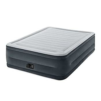 Intex Comfort Plush Elevated Dura-Beam Airbed with Built-In Electric Pump Bed Height 22  Queen