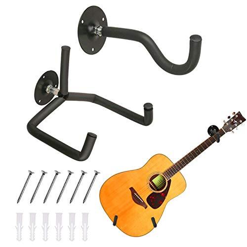 TTCR-II Gitarrenhalter für Die Wand Schräg, Gitarren Wandhalterung Akustik Elektrik Klassische Gitarren Ständer Wandhalter Gitarrenständer, Gitarrenhalter Wand Display für Ukulele Gitarre Banjo