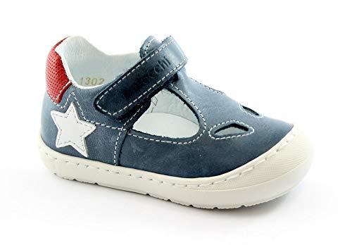 BALOCCHI BUGGY 111302 19/24 blu scarpe bambino sandali chiusi strappo 20