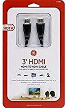 GE 3' High Speed HD 3D 4k 1080p HDMI Cable, Black