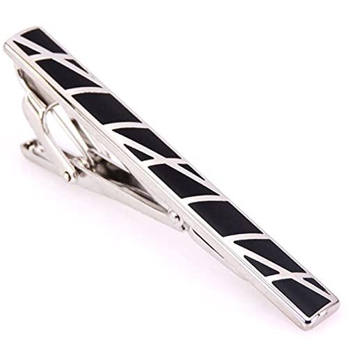 Wsnld Men s tie Clip Wedding Tie Pins Colorful Simple Metal Silvery Gold Color by Hand Necktie Clip Accessories