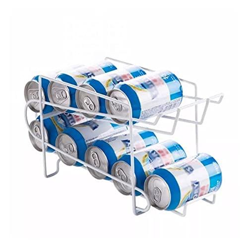 DAMAIA DMKJFFF Tenedor de Rack de Doble Capa Blanco Organizar Almacenamiento Refrigerador Bebida Cocina Frigorífico Cerveza Rack Bebida Dispensador Herramienta (Color : Style1)