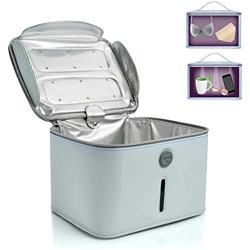 JIBO Cleaner Portable UVC LED Desinfección Bolsa Luz UV UV Esterilizador Caja Limpia 99% con 24 Leds