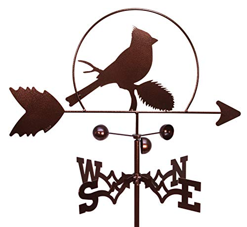 SWEN Products Cardinal RED Bird Weathervane (Garden Stake Included)