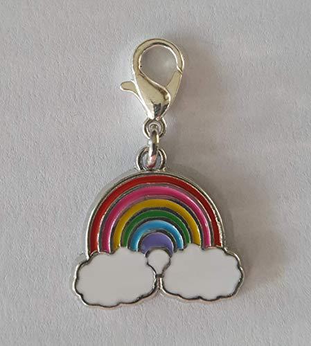 Charm Kinderschmuck Regenbogen Anhänger Karabiner Bettelarmband Schlüsselanhänger Accessoires