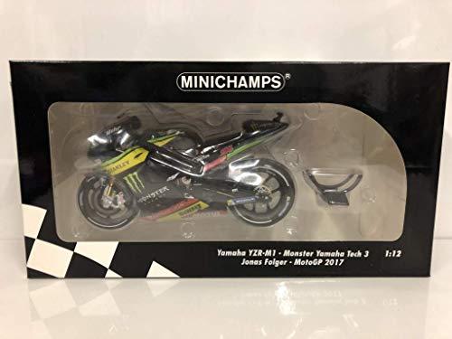 Minichamps 122173094 1:12 Yamaha YZR-M1 Jonas Folger-2017 Moto GP, Multi