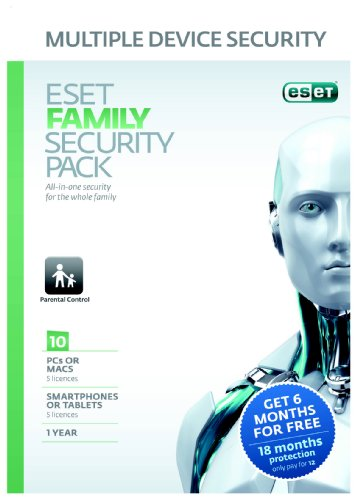 Eset Family Security Pack (PC/Mac/Android/Linux) Frustration free packaging [import anglais]