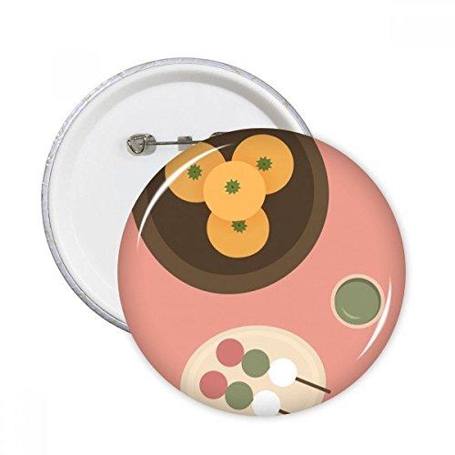 Local japonés alimentos aperitivos clavijas redondas insignia botón ropa decoración regalo 5pcs