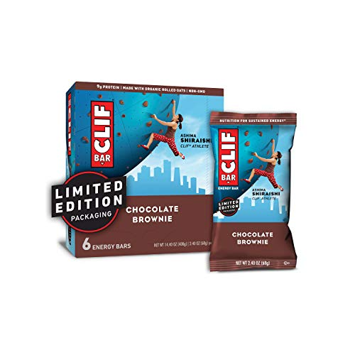 CLIF BAR - Energy Bars - Chocolate Brownie - (2.4 Ounce Protein Bars, 6 Count) (Packaging May Vary)