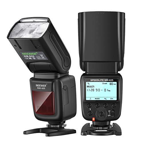 Neewer NW625 GN54 Speedlite Flash Canon Nikon Panasonic Olympus Pentax Fuji DSLR Cámaras sin Espejo y Sony Zapata Mi como a9 a7 a7II a7III a7R III a7RII a7SII a6000 a6300 a6500