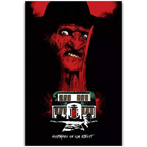 Raspbery Pesadilla en Elm Street película de terror Vintage cuadro abstracto arte cartel e impresiones lienzo pintura decoración del hogar -50x75cm sin marco