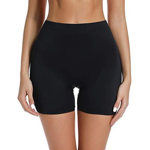 Joyshaper Damen Unterhose Sicherheit Short Nahtlose Panty Miederhose Unterwäsche Kurze Hose Unter Rock Kleid Hose oder Zuhause, Schwarz, M