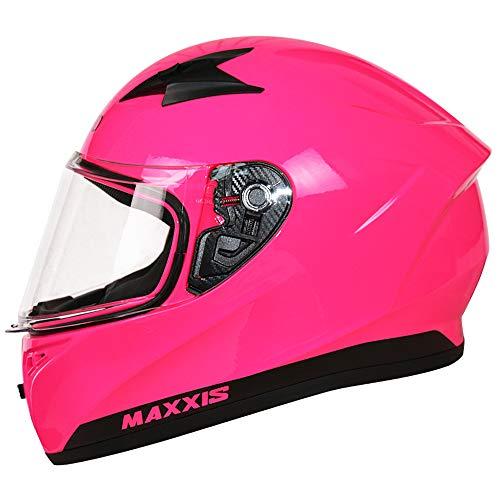 Leopard LEO-813 Integralhelm (XS-XXL) Motorradhelm Neon Pink L (59-60cm) Damen und Herren ECE Genehmigt