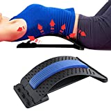Back Stretcher for Lower Back Pain Relief with Resistance Band - 3 Level Lower Back Support Back Cracking Device for Lower Back Spinal Muscle Massager & Lumbar Support for Bed Chair Home Exercise