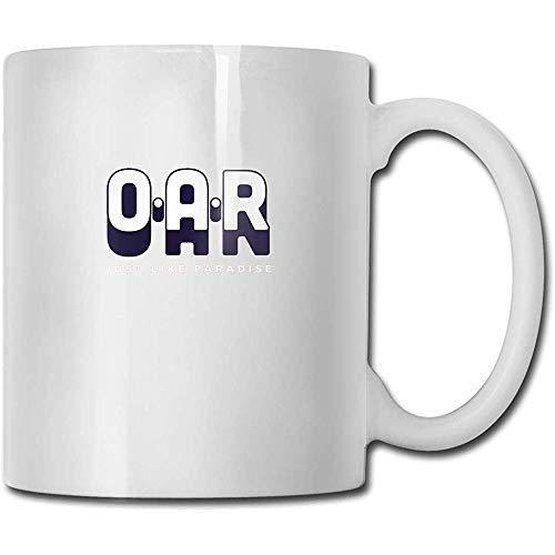 Mokken O.A.R. - Precies zoals in het paradijs handgemaakt design grappige koffiemok thee cup cadeau voor fans man vrouw vriendin wit