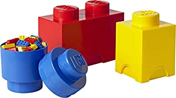 Room Copenhagen LEGO Storage Brick Multipack - Includes 3 Stackable Bricks - 3-Piece Classic Colors