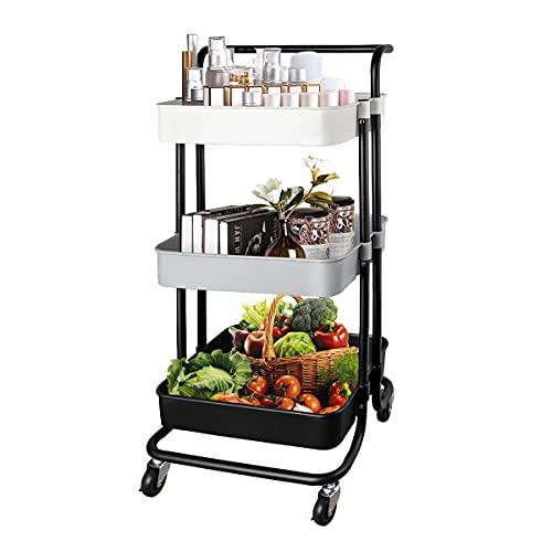 QiMH 3 Tier Rolling Storage Cart