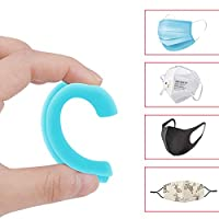 シリコンイヤーフック フック 2本入 耳保護 耳が痛くならない フックベルト 補助道具 フリーサイズ ホワイト