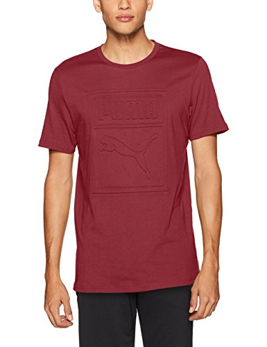 PUMA Men's Archive Embossed Logo T-Shirt, Red, S