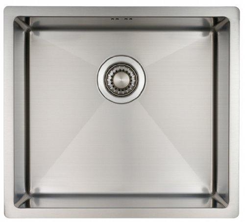 Fregadero de Cocina Mizzo Linea | Acero Inoxidable 304 | Montaje Bajo o Sobre Encimera o al Ras | Radio 10mm | 1 Seno | Espesor Acero 1.2mm (45x40)