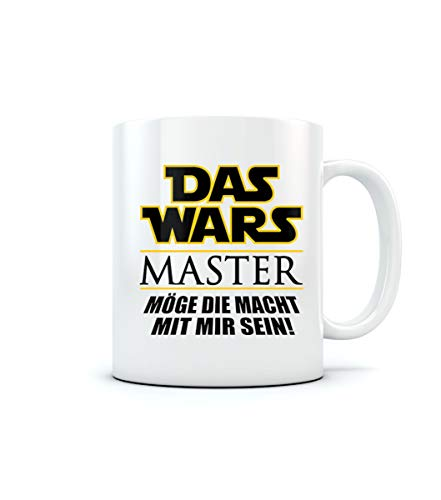 Uni - Das Wars - Master - Geschenk zum Abschluss Kaffeetasse Tee Tasse Becher 11 Oz. Weiß