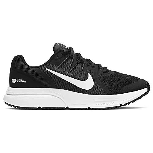 Nike Wmns Zoom Span 3, Zapatillas para Correr Mujer, Black White Antracita, 44.5 EU