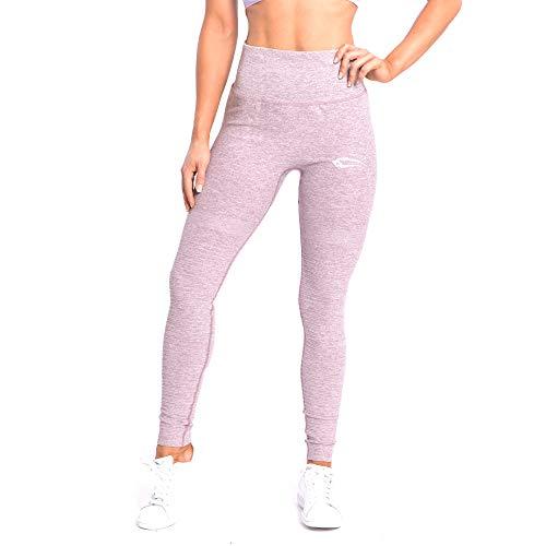 SMILODOX Damen Leggings High Waist Ivy | Seamless - Figurformende Tight für Fitness Gym Yoga Training & Freizeit | Sporthose - Workout Trainingshose, Farbe:Lila, Größe:S