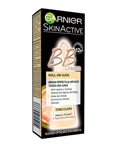 Garnier Skin Active - BB Cream Roll-On Ojos, Crema Correctora y Anti-Imperfecciones, Tono Claro, 7 ml