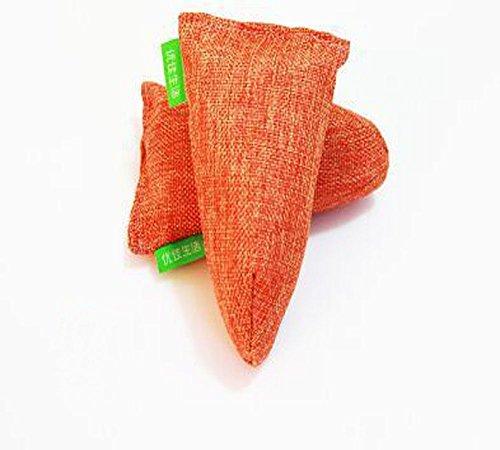 B & B y carbón de bambú purificador de aire bolsa, en color natural, los olores y olores Eliminator.