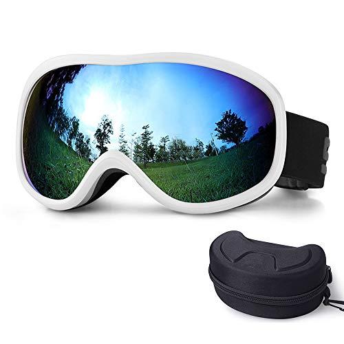 ZXLIFE@@@ OTG anti-condens-skibril voor dames en heren, skibril, universele helm-compatibiliteit, professionele ventilatie wit