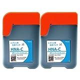 HNA C/シアン-2本セット [EPSON]ハーモニカ 新互換インクボトル 取扱説明書付き 1年保証【A.I.S製品】