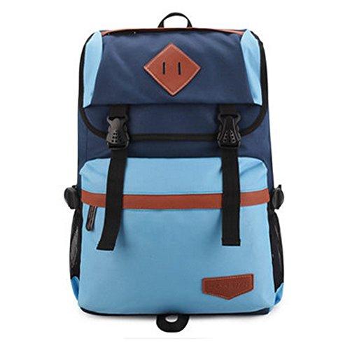 Durable Casual School Bag Laptop Shoulder Bag Travel Backpack,Navy/Blue