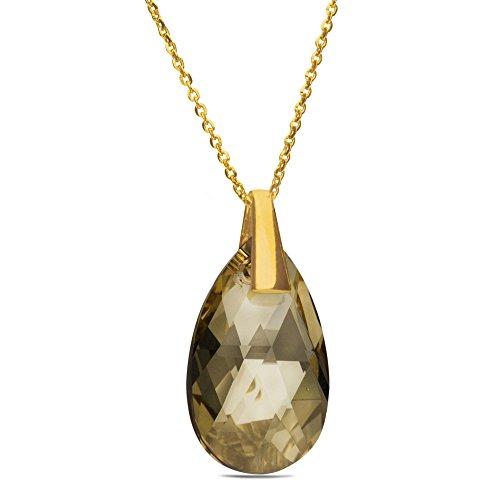 Swarovski Elements Donna Collana in argento 925placcato oro, cristalli Swarovski 42cm + 5cm e Placcato oro, colore: gold, cod. 33565