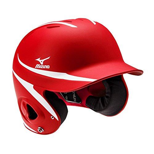 Mizuno 380300.1000.01.0000 MVP Batter's Helmet (S/M) - Mbh252 One-Size RED-White, Red White