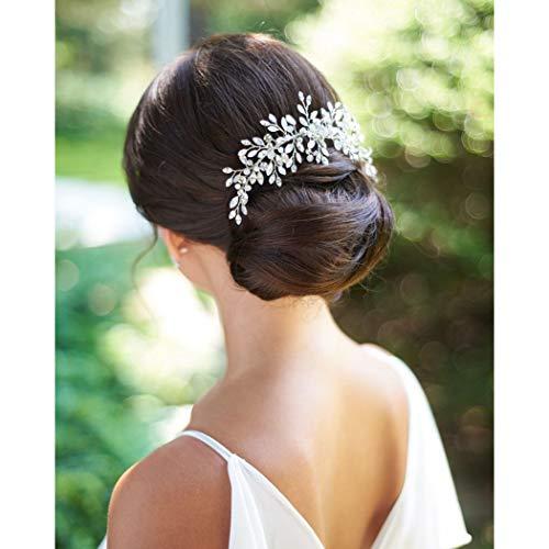 Unicra Accessoires de cheveux de peigne de mariage Bride...