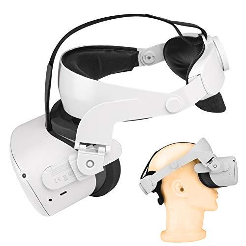 VR Gürt Headset Oculus Quest 2 Zubehör, Halo Gurt, Einstellbarer Ersatz für den Quest 2 Elite Gurt, verbesserte Unterstützung und Komfort beim VR-Spielen - [Monja Expended Back Pad]