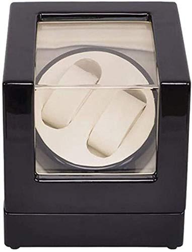 Alivisa bobinadora, Mira enrollador 2 Relojes de Reloj Caja Maleta enrollador, devanadera de la devanadera de Almacenamiento de Caja de exhibición Negro Motorautomatikuhr