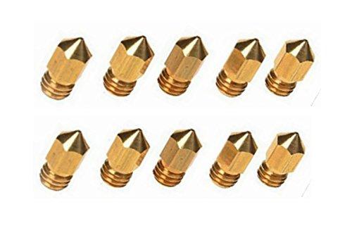 Cabezales de impresión con boquilla de latón para impresora 3D; 10piezas, boquilla de 0,4mm para impresora MK81,75mm ABS PLA