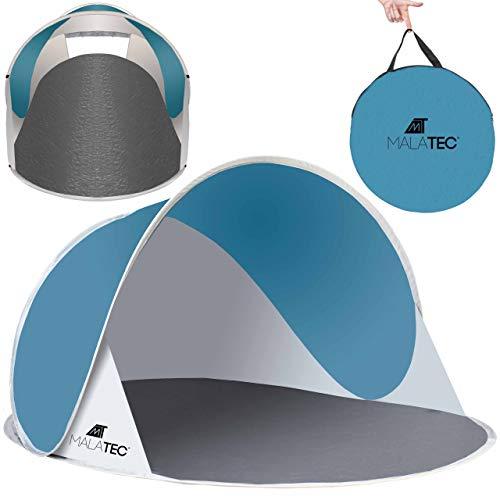 MT MALATEC Strandmuschel Pop Up UV Schutz Wurfzelt leicht Sonnenzelt 10178, Größe:190x120x90 cm