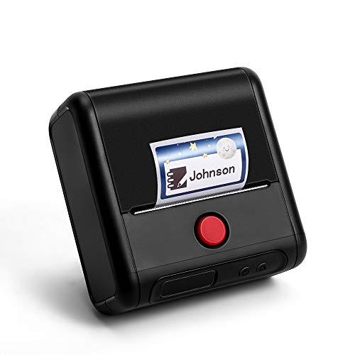 Phomemo M200 Impresora de etiquetas,impresora etiquetas Bluetooth portátil,Tamaño de impresión 20-80mm,Compatible con Android e ios,Para oficina, códigos de barras,Tienda, correo,ropa,imagen etc.Negro