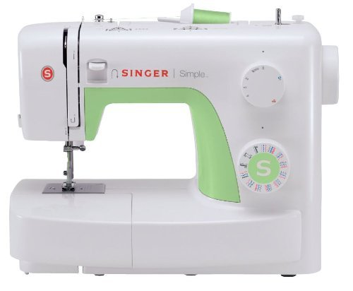 Singer Simple 3229 Machine à Coudre Blanche/Verte 29 Points Ajustables
