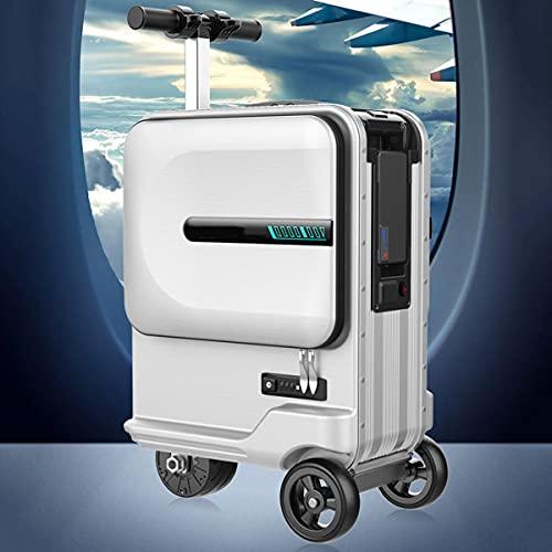 Smart Electric Valigia Scooter 26L 7,5kg Bagaglio a Mano per Viaggi Aerei Uomini e Donne, Batteria al Litio Rimovibile da 73,26 W/h, Asta in Lega di Alluminio, Porta di Ricarica USB, carico 100kg