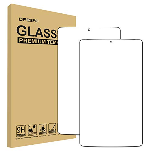 (2 Pack) Orzero Compatible for Alcatel A30 8 Inch Tablet Tempered Glass Screen Protector, Bubble-Free 9 Hardness HD Anti-Scratch (Lifetime Replacement)