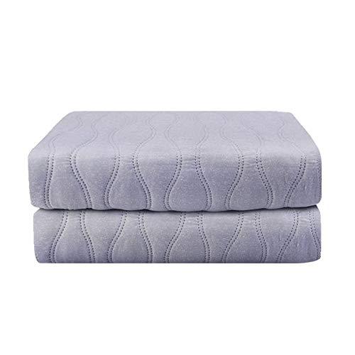 """LIANG Climatizada reina tamaño combinado, 78"""" x 70"""" calienta edredón de la cama, 4 programas de temperatura, anti-recalentamiento automático de apagado, reversible manta de calefacción rápida, lavable"""