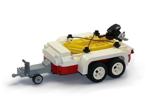 CUSTOM Modell Schlauchboot mit Anhänger aus LEGO® Steinen zB. für 10220 T1 Bus