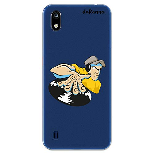 dakanna Funda Compatible con [ZTE Blade A7 2019] de Silicona Flexible, Dibujo Diseño [DJ Música], Color [Fondo Transparente] Carcasa Case Cover de Gel TPU para Smartphone