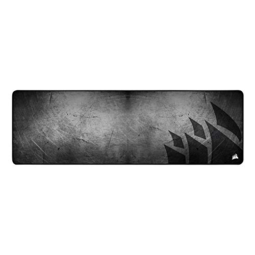 Corsair MM300 PRO Premium Spill-Proof, Stain-Resistant Cloth Gaming Mouse Pad (93 x 30 cm Surface, Micro-Weave Fabric, 3 mm Thick Plush Rubber, Durable Anti-Fray Edges) Extended, Black/Grey