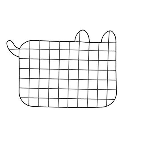 Vosarea alambre de metal panel de cuadrícula de pared foto de gato pared decoración